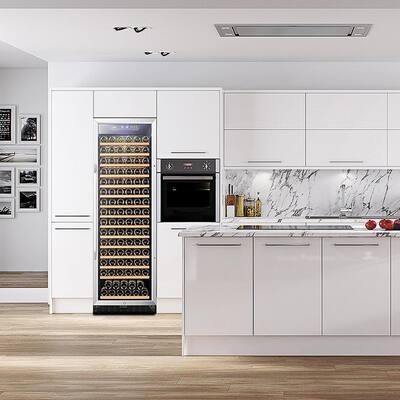 23 in. 171-Bottle Stainless Steel Single Zone Wine Refrigerator