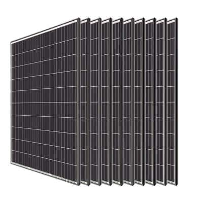 320-Watt Monocrystalline Solar Panel System Kit Off Grid for Shed Farm (10-Pieces)
