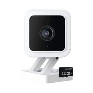 Wyze Cam v3 1080p HD Indoor/Outdoor Smart Home Security Camera with Color Night Vision, 32GB SD card, and 2-Way Audio