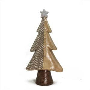18 in. Brown Textured Eco-Friendly Christmas Tree Tabletop Figure