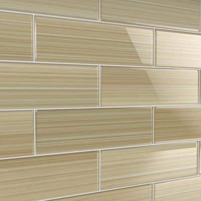 Cupatea 4 in. x 12 in. Glass Tile for Kitchen Backsplash and Showers (10 sq. ft./per Box)