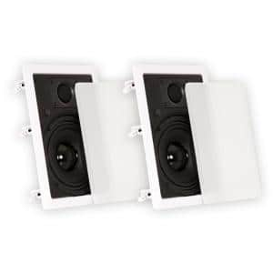 In Wall 6.5 in. Speakers Surround Sound Home Theater Pair