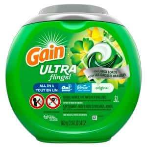 Ultra Flings Original Scent with Febreze Oxi Boost Odor Remover Laundry Detergent (21-Count)