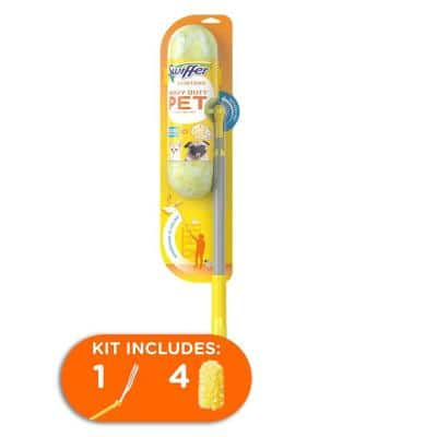 Duster Heavy-Duty Pet Super Extending Handle Dusting Starter Kit with Febreze Odor Defense (4-Count)