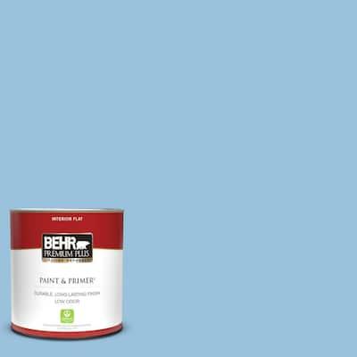 1 qt. #M520-3 Charismatic Sky Flat Low Odor Interior Paint & Primer