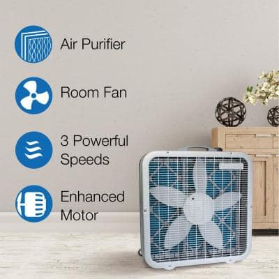Air Flex 20 in. 3- Speed Air Purifier and Room Fan