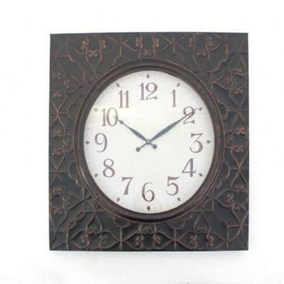 Mariana Indoor Brass Metal Clock Wall Decor