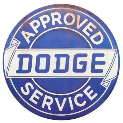 Approved Service Tin Button Decorative Sign