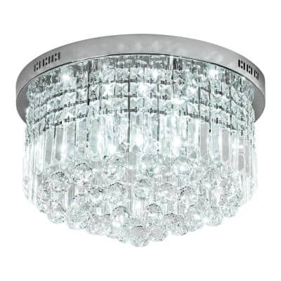 Kathi 9-Light Chrome Chandelier with K9 Crystal