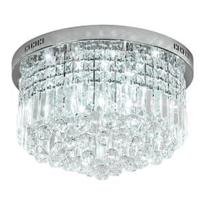 Kathi 9-Light Chrome Chandelier with K9 Crystal
