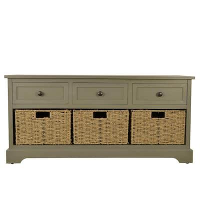 Montgomery Antique Gray Storage Bench