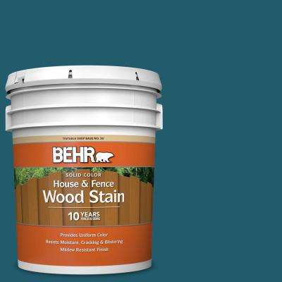 5 gal. #T16-04 Galapagos Solid Color House and Fence Exterior Wood Stain