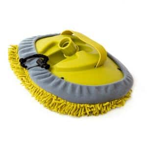 Microfiber Chenille Cleaning Head Wall Duster for Use by Hand or with an Extension Pole (Pole Not Included)