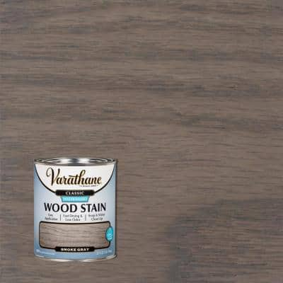 1 qt. Classic Smoke Gray Water-Based Interior Wood Stain