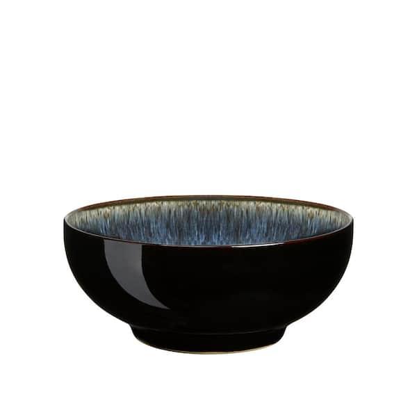 Denby Halo Dinnerware Set Black-Blue 4-piece