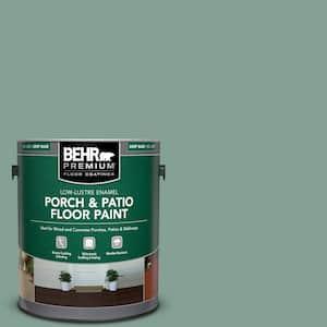 1 gal. #S420-4 Australian Jade Low-Lustre Enamel Interior/Exterior Porch and Patio Floor Paint
