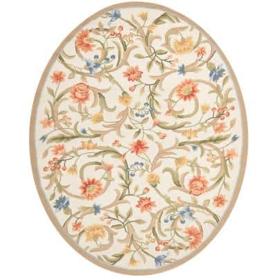 Chelsea Ivory 8 ft. x 10 ft. Oval Area Rug