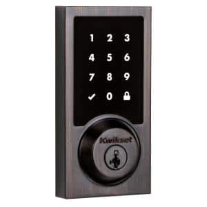 Z-Wave SmartCode 916 Touchscreen Contemporary Single Cylinder Venetian Bronze Electronic Deadbolt with SmartKey Security
