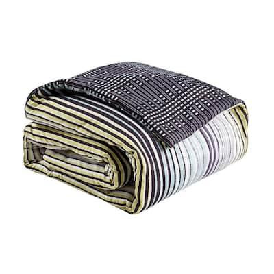 Strata Charcoal Comforter Set
