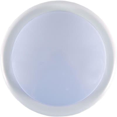 1-Light White Battery Operated Round Mini Tap Light