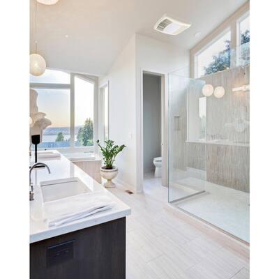 150 CFM Ceiling Bathroom Exhaust Fan with Light, ENERGY STAR