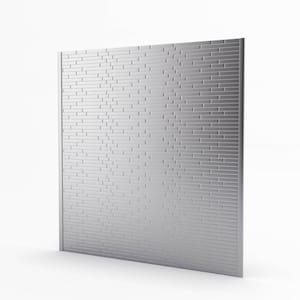 Linox Stainless 29.61 in. x 30.75 in. x 5 mm Metal Self-Adhesive Range Backsplash Mosaic Tile (6.33 sq. ft.)