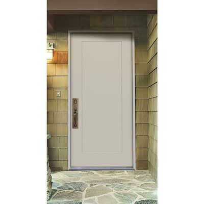 32 in. x 80 in. 1-Panel Craftsman Primed Steel Prehung Right-Hand Inswing Front Door