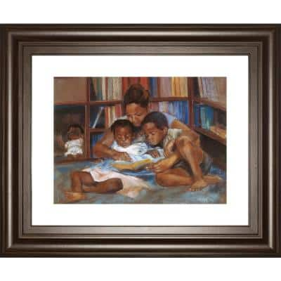 """""""The Reading"""" By Sharon Wilson Framed Print Wall Art 26 in. x 22 in."""