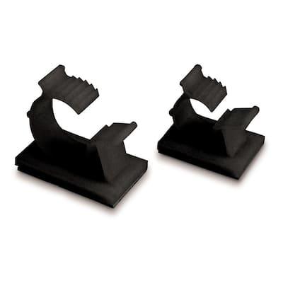 3/8 in. Plastic UVB Kwik Clip, Black (6-Pack) Case of 6
