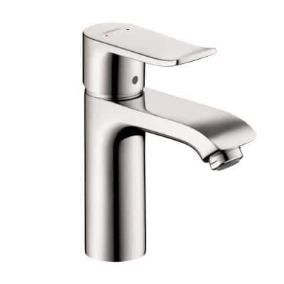 Metris 110 Single Hole Single-Handle Bathroom Faucet in Chrome without Pop-Up Drain