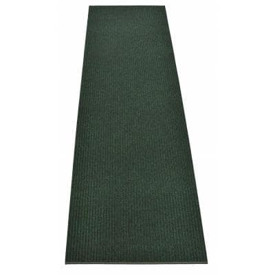 Tough Green 27 in. Width x Your Choice Length Custom Size Runner Rug