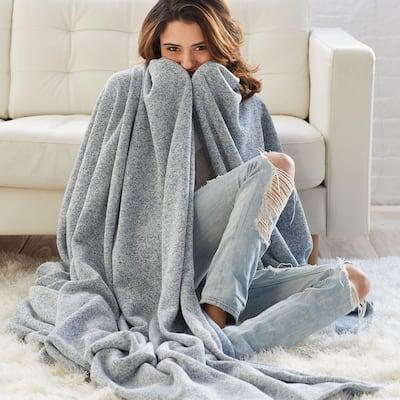 Sweatshirt Knit Reversible Blanket