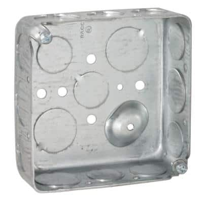 2-Gang Electrical Square Box with Raised Ground