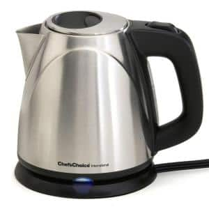 4-Cup Cordless Stainless Steel Electric Kettle with Automatic Shut-Off