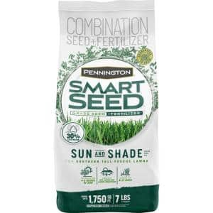 Smart Seed 7 lbs. Sun and Shade South Grass Seed and Fertilizer
