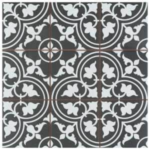Harmonia Classic Black 13 in. x 13 in. Ceramic Floor and Wall Tile (12.19 sq. ft./Case)