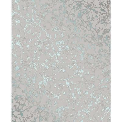 Palatine Teal Leaves Paper Strippable Wallpaper (Covers 56.4 sq. ft.)