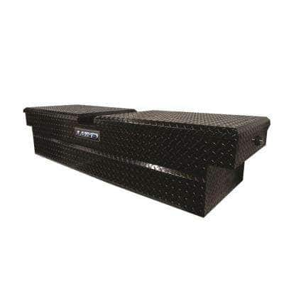 70 in Gloss Black Aluminum Full Size Crossbed Truck Tool Box with mounting hardware and keys included