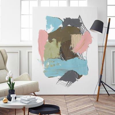 """54 in. x 72 in. """"Paint Web II"""" by Jennifer Goldberger Wall Art"""