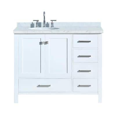 Sink On Left Side Bathroom Vanities Bath The Home Depot