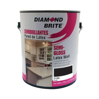 1 gal. Black Semi-Gloss Latex Interior Paint