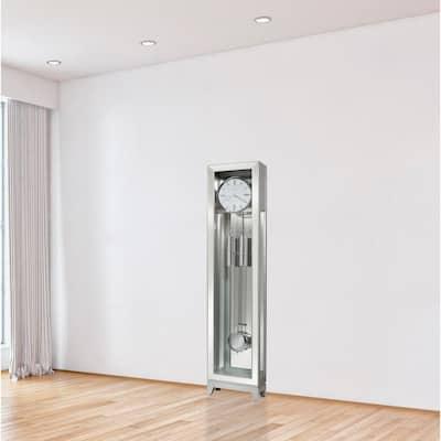 Blayne Series Silver Battery Operated Floor Clock