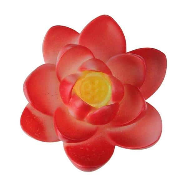 Pool Central 4 In Led Color Changing Patio Or Swimming Pool Light Floating Flower In Red 32756730 The Home Depot
