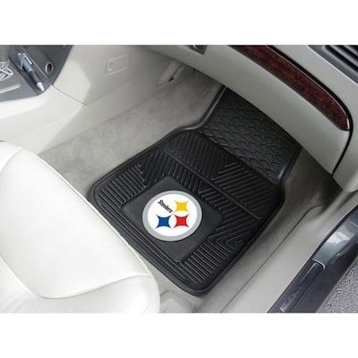 Pittsburgh Steelers 18 in. x 27 in. 2-Piece Heavy Duty Vinyl Car Mat