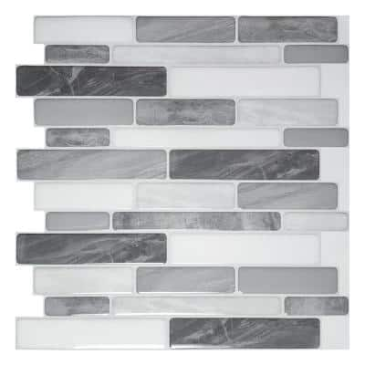 C-Stones Gray Peel and Stick Wall Tiles Backsplash 11.8 in. x 10.5 in. (8.7 sq. ft./ Pack)