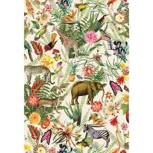 Tropical Zoo Vinyl Peel & Stick Wallpaper Roll (Covers 28.18 Sq. Ft.)