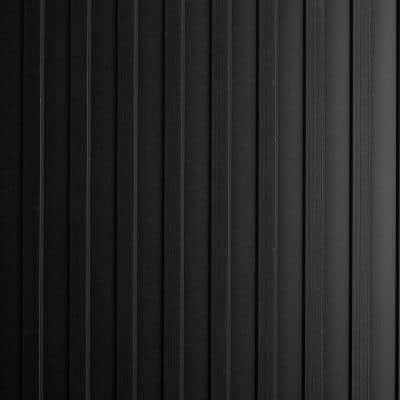 Black Flat Ribbed 36 in. x 15 ft. Antimicrobial Vinyl Commercial Grade Runner Matting