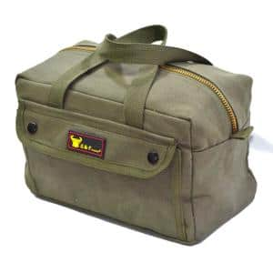 11 in. Government Issued Style Mechanics Heavy-Duty Tool Bag in Olive