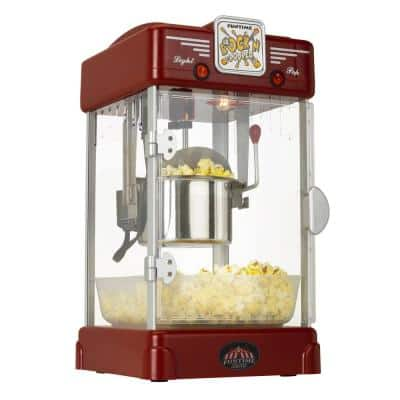 Rock'n Machine 2.5 oz. Red Countertop Popcorn Machine
