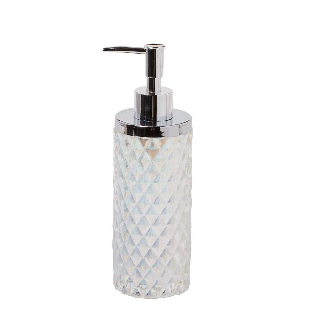 Skl Home Frosted Free Standing Lotion Dispenser In Frosty U1319100130004 The Home Depot